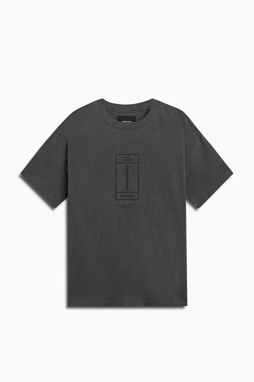 vertical rectangle tee / vintage black