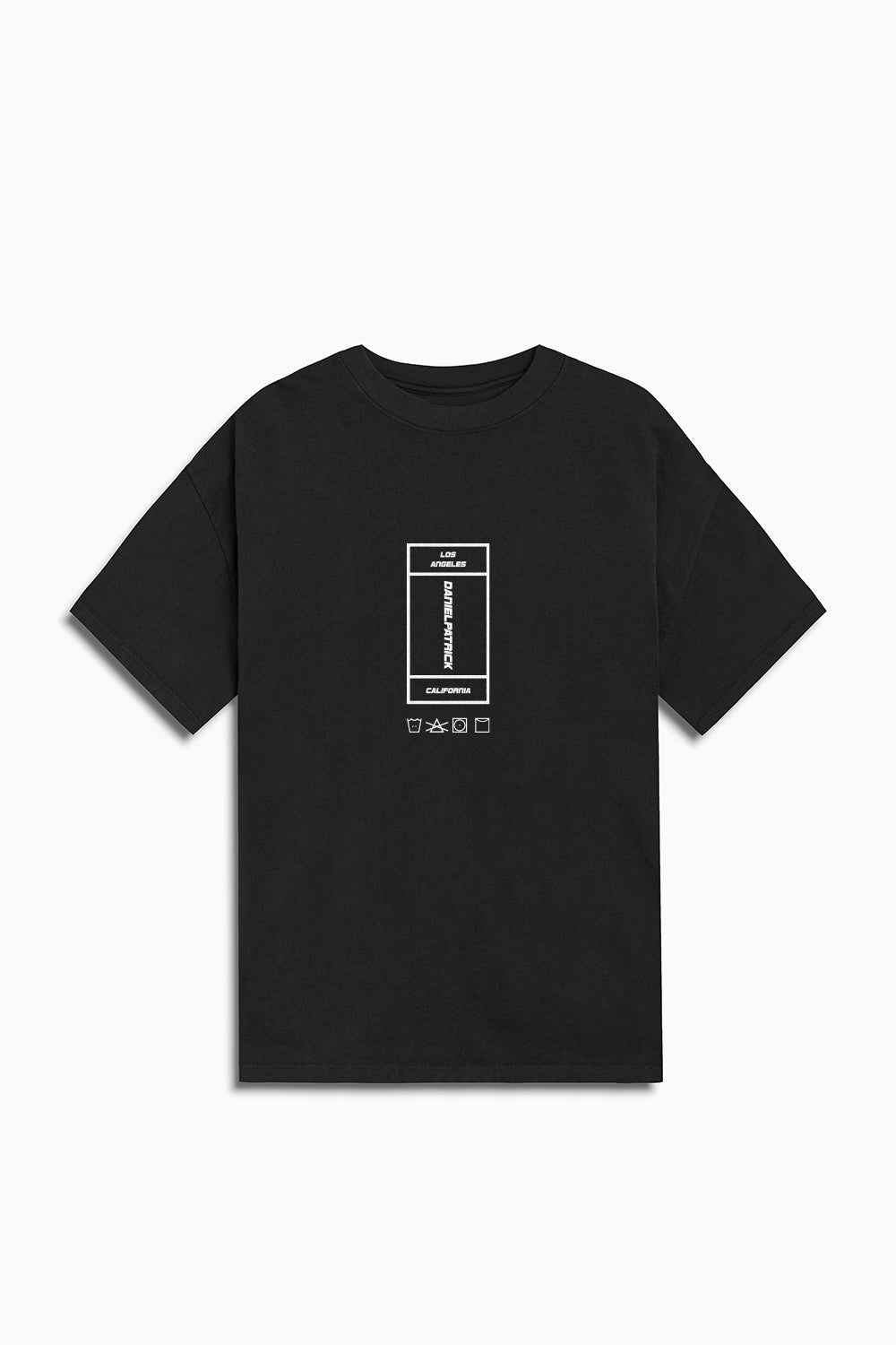 vertical rectangle tee / washed black