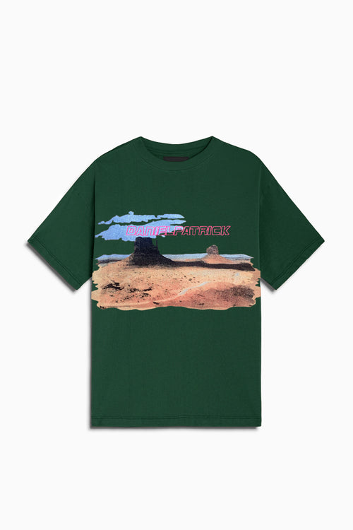 utah desert tee / hunter green