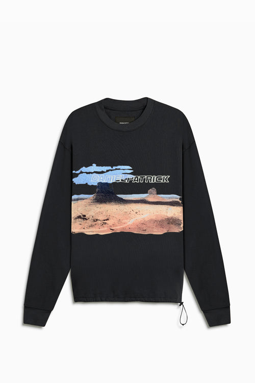 utah desert bungee sweatshirt / washed black