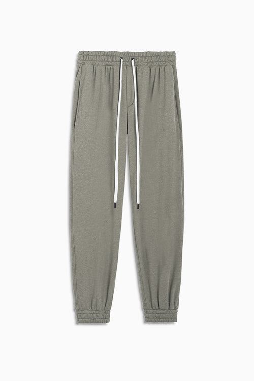 loop terry roaming sweatpants / washed olive heather