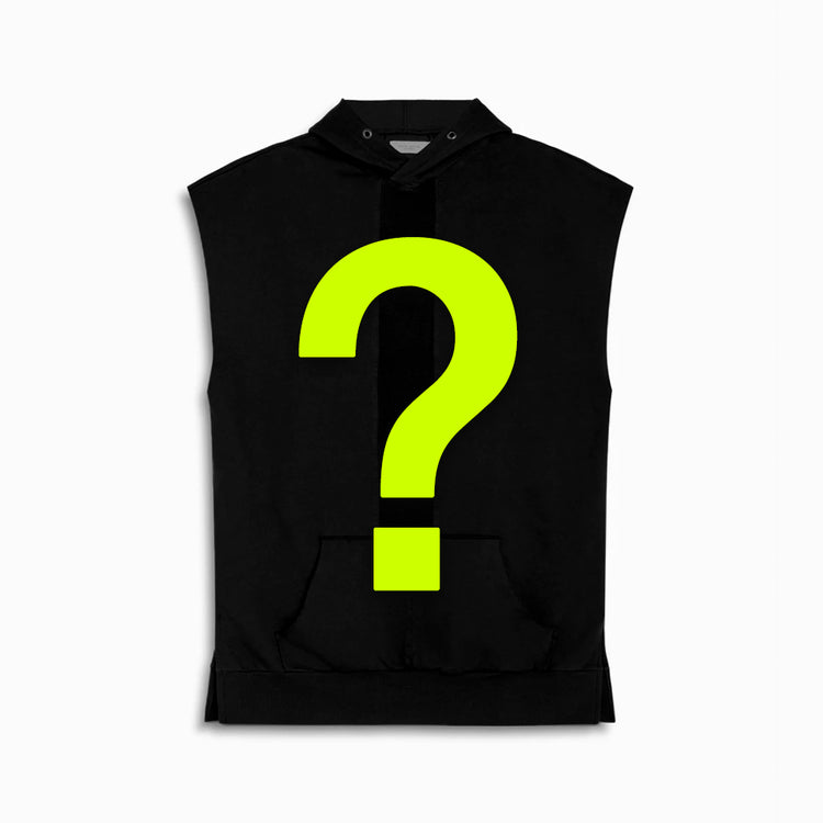 mystery bag knomadik sleeveless hoodie - mens (1 item)