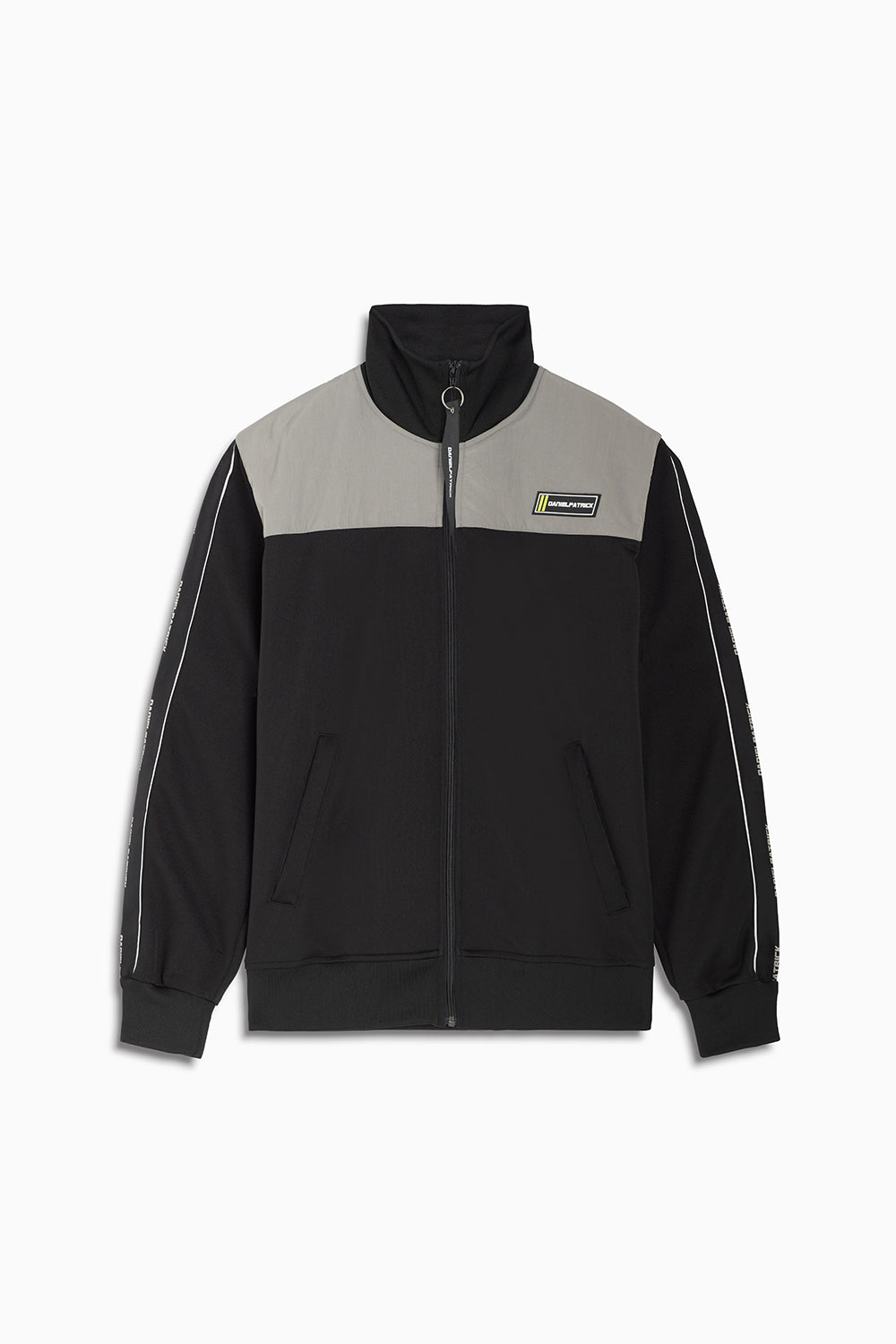 2020 slim track jacket / black + 3m + smog grey
