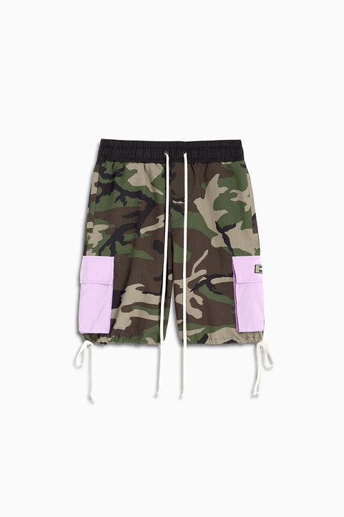 M93 cargo short / camo + purple haze
