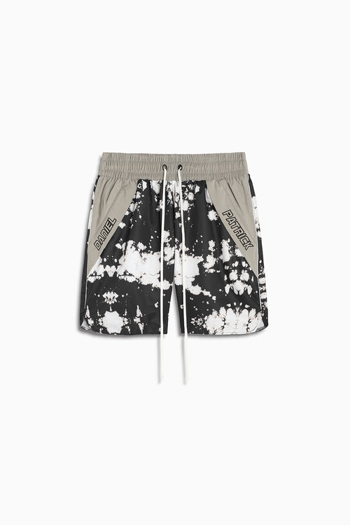 Logo Pocket Gym Short / white acid + 3m + smog grey