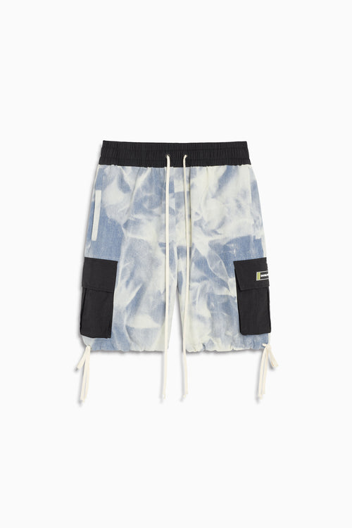 M93 cargo short / cloud denim + black