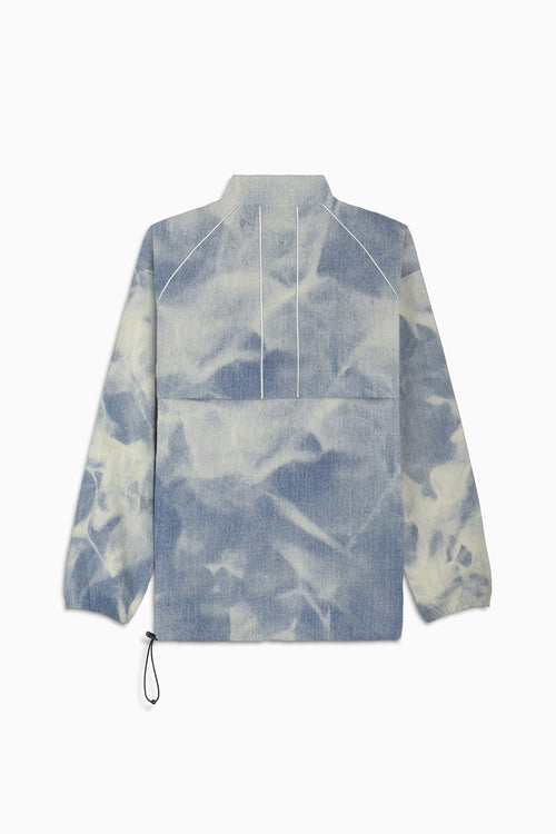 pullover batting jacket / cloud denim