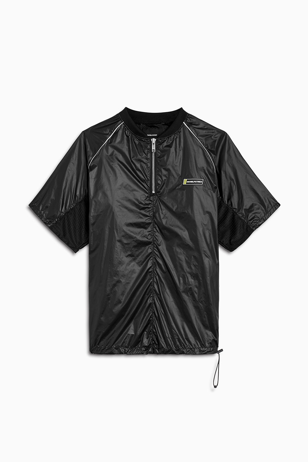s/s batting jacket / shiny black