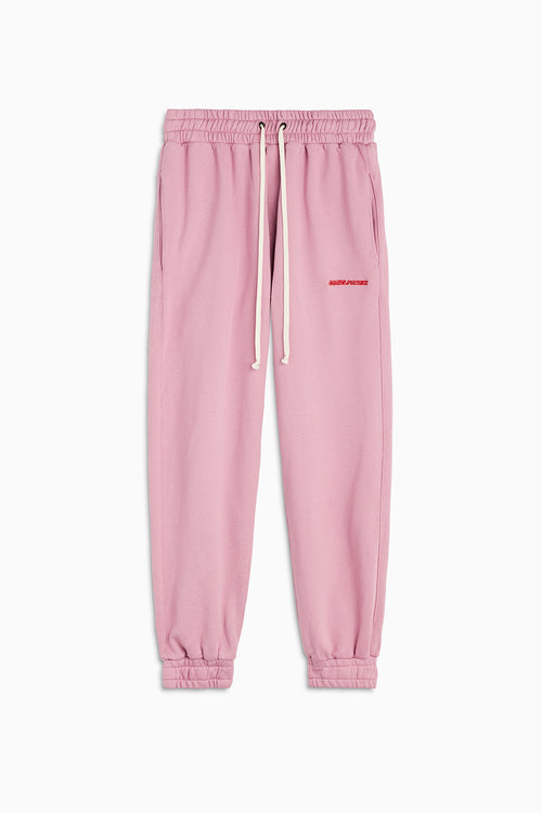 roaming sweatpants / blush + red