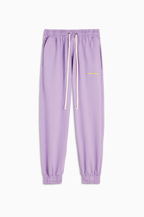 roaming sweatpants / purple haze + yellow