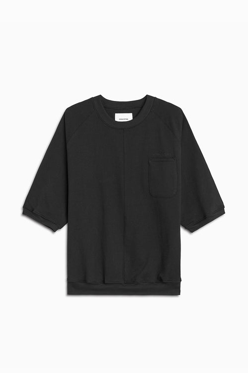 s/s raglan pocket crew / black