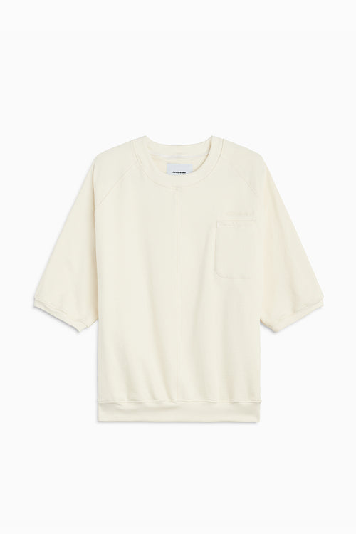 s/s raglan pocket crew / natural