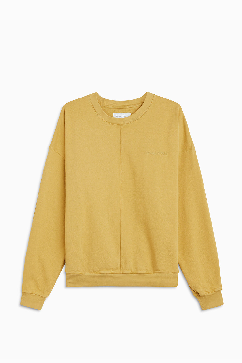 pullover crew neck sweatshirt / mustard yellow