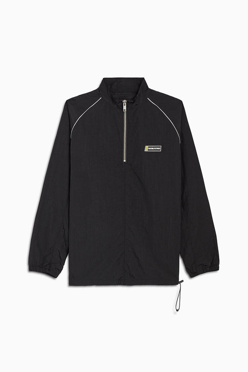 pullover batting jacket / black