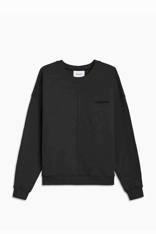 pullover crew neck sweatshirt / washed black