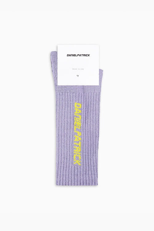 DP logo sock / purple haze + yellow