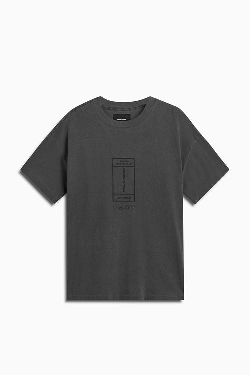 rolling hills rectangle tee / vintage black