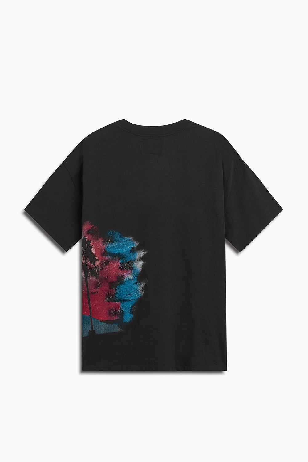 LA nights tee / black + pink + blue