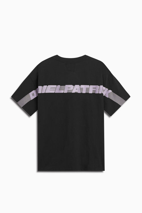 shutter blade tee / black + purple haze