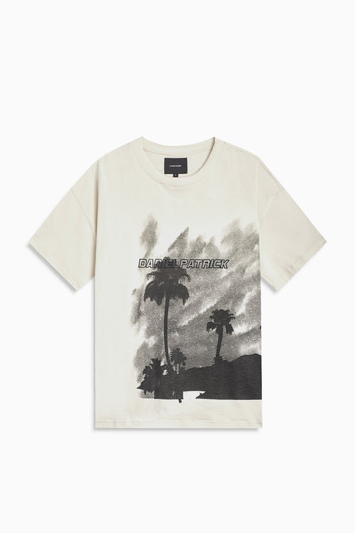 LA nights tee / natural + black