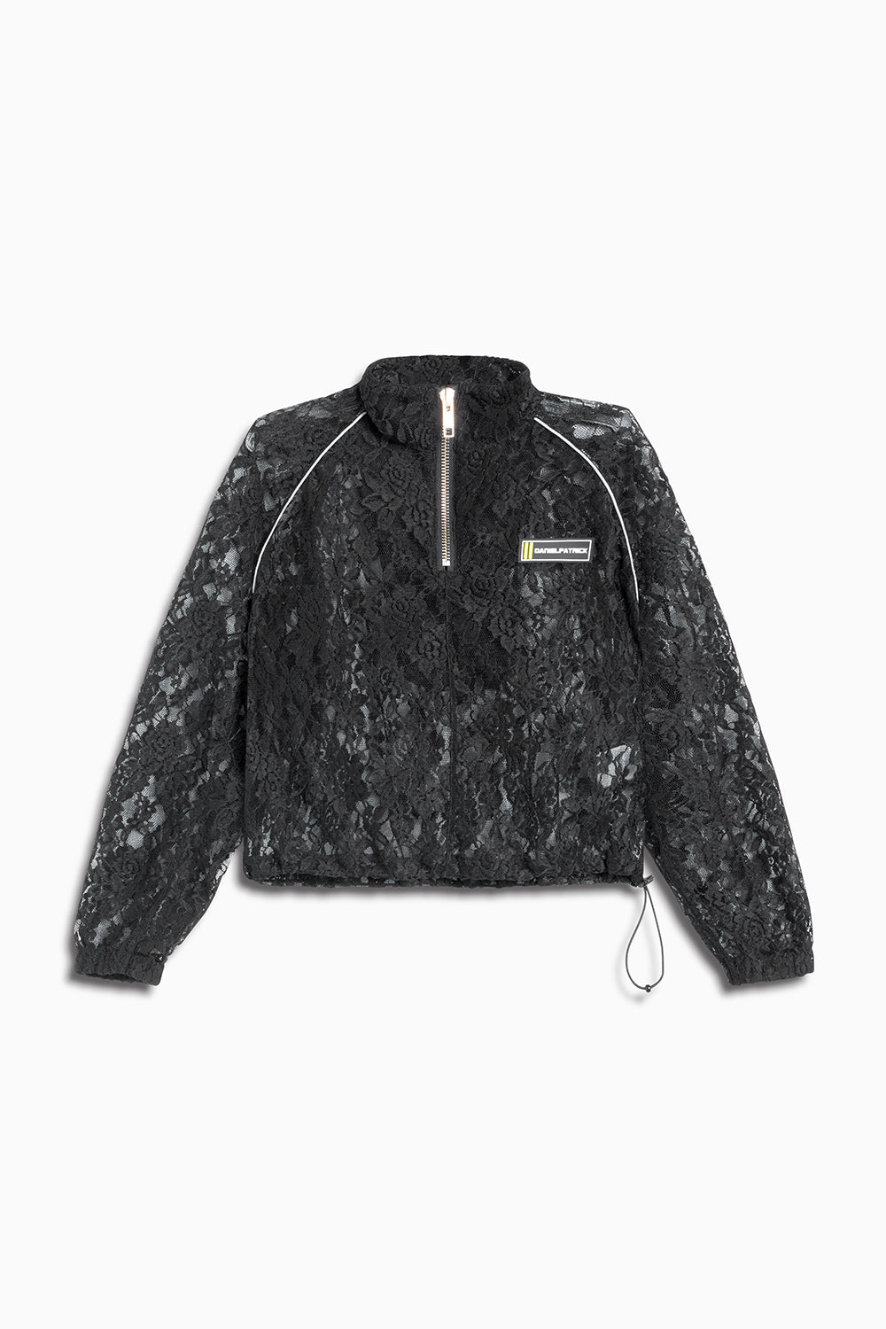 crop batting jacket / black lace