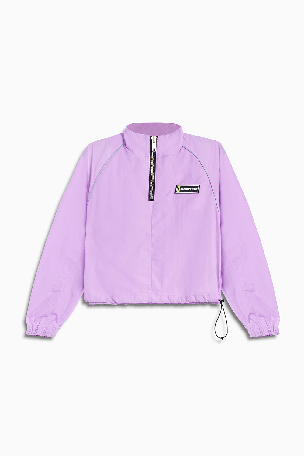 crop batting jacket / purple haze