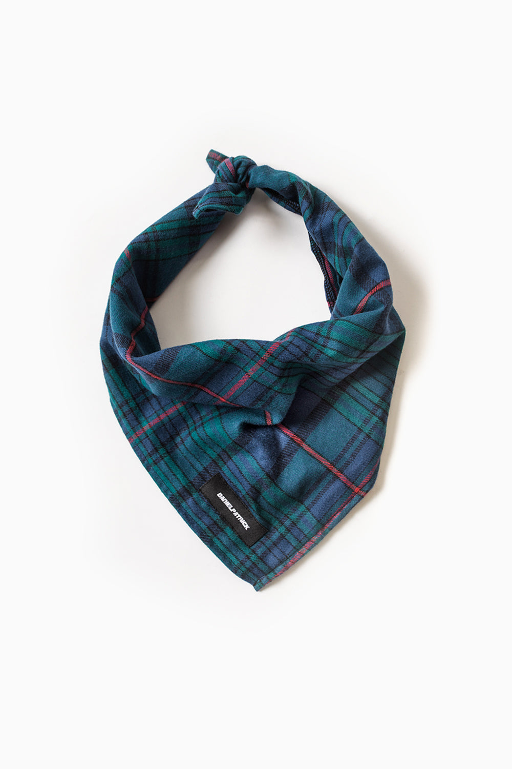 flannel bandana / blue green plaid