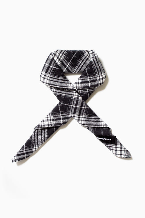 flannel bandana / black grey plaid