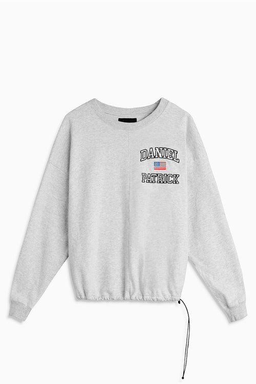 USA sweatshirt / ash heather grey