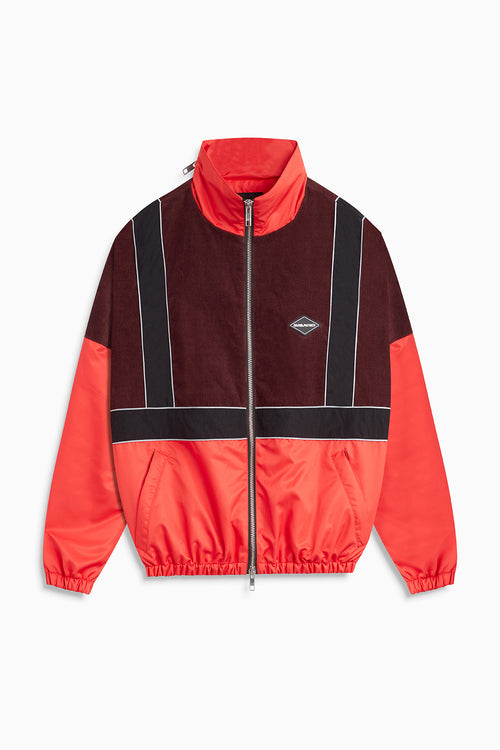 2021 track jacket / red + black + maroon
