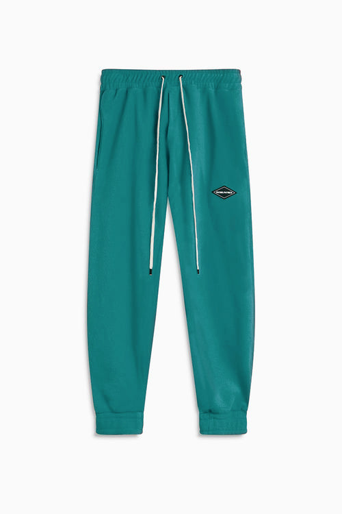 polar fleece roaming sweatpants / teal