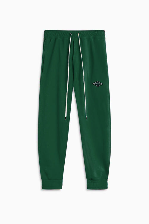 polar fleece roaming sweatpants / hunter green