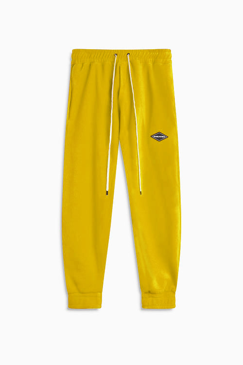 polar fleece roaming sweatpants / yellow