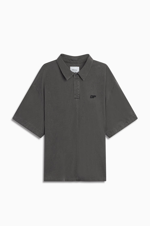 box jersey polo / vintage black