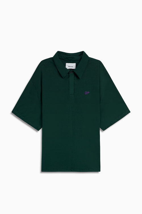 box jersey polo / hunter green