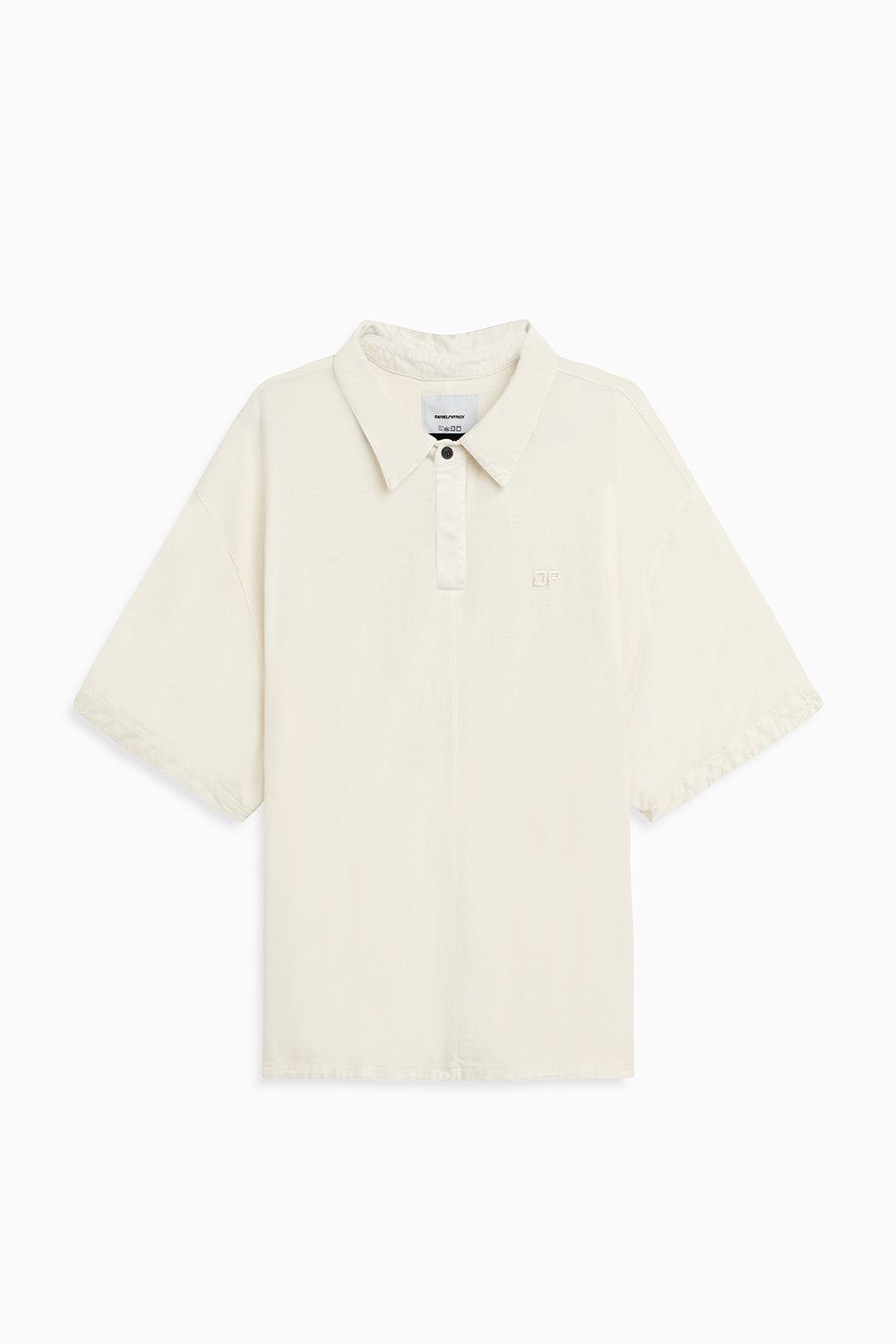 box jersey polo / natural