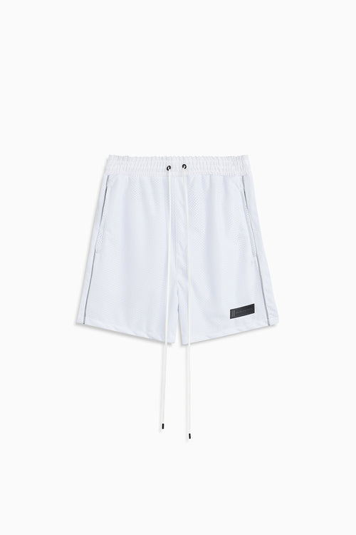 b-ball mesh gym short / white + 3m