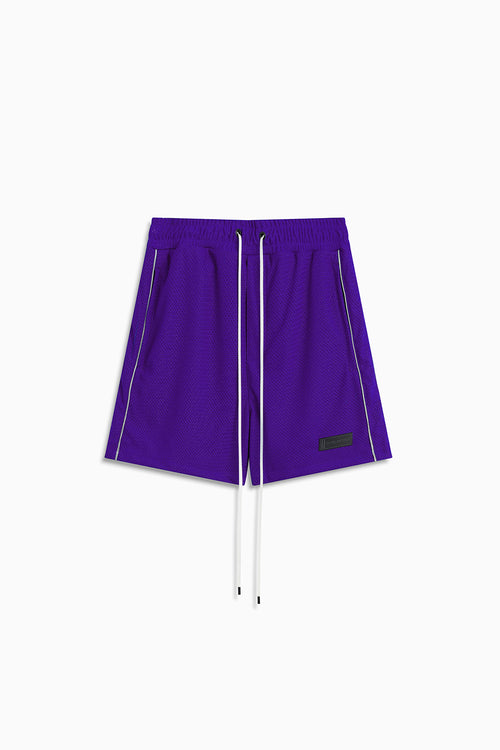 b-ball mesh gym short / ultra violet + 3m