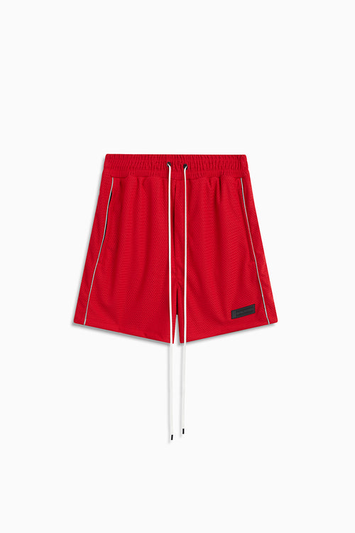 b-ball mesh gym short / red + 3m