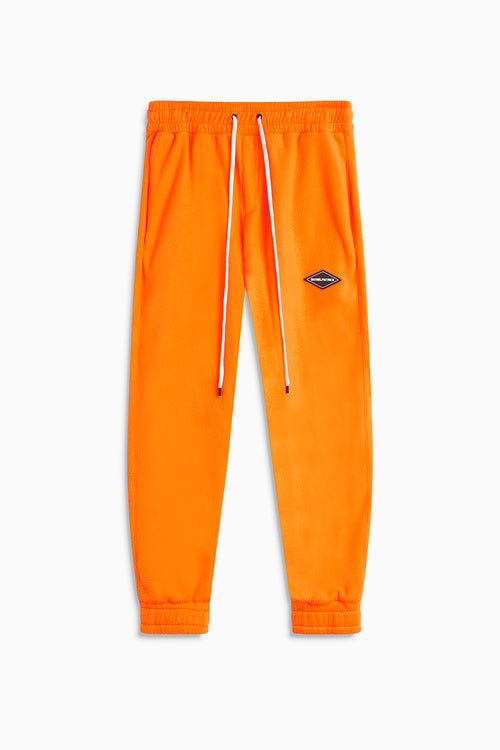 polar fleece roaming sweatpants / neon orange