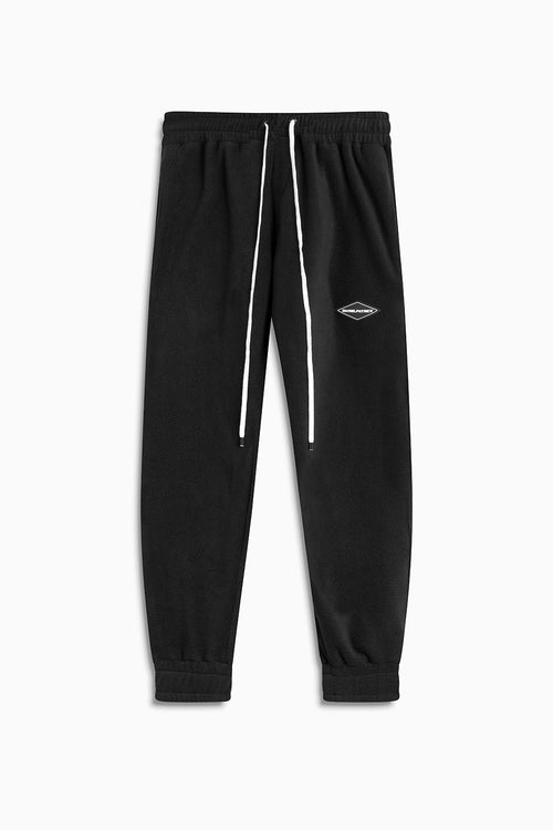 polar fleece roaming sweatpants / black