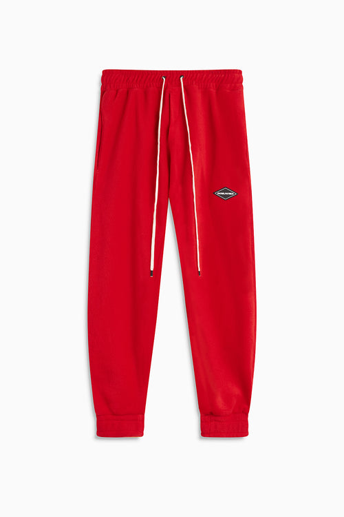 polar fleece roaming sweatpants / red