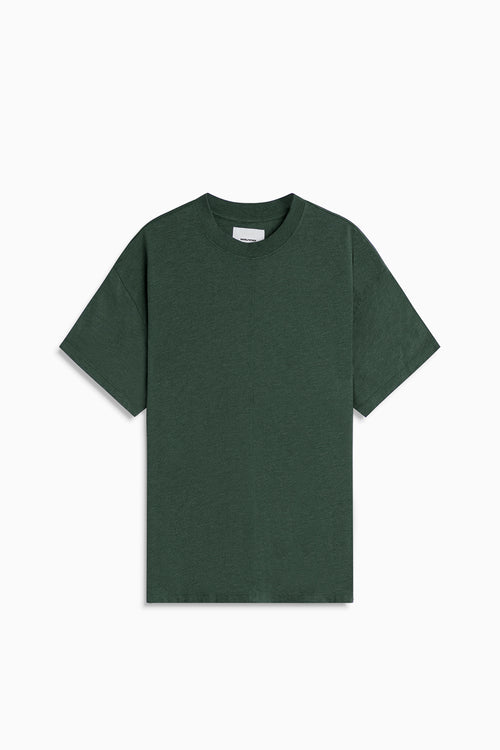 tri-blend standard tee / hunter green heather