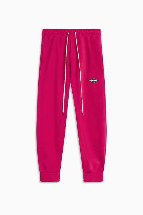 polar fleece roaming sweatpants / wildflower pink
