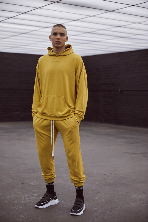 loop terry standard hoodie / mustard yellow