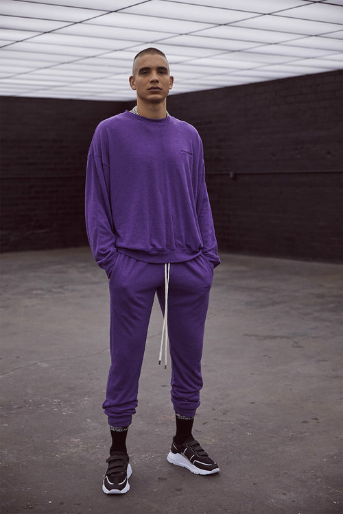 loop terry roaming sweatpants / ultra violet