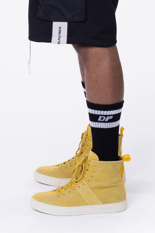 DP stripe b-ball sock / black + white