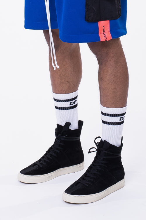 DP stripe b-ball sock / white + black