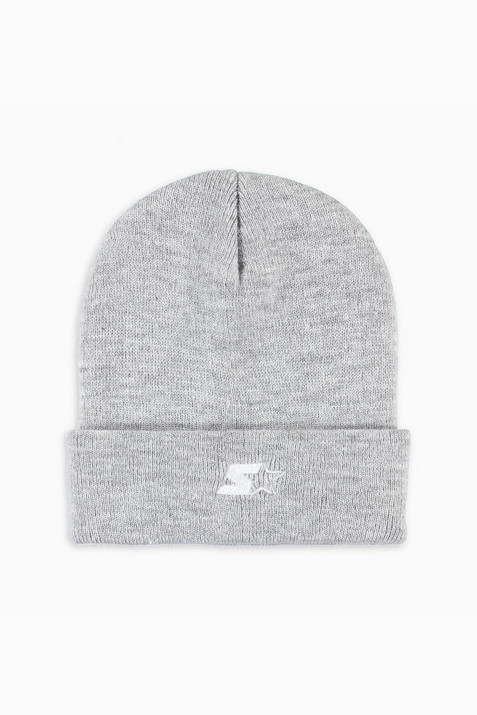 NY starter beanie / heather grey + white + blk