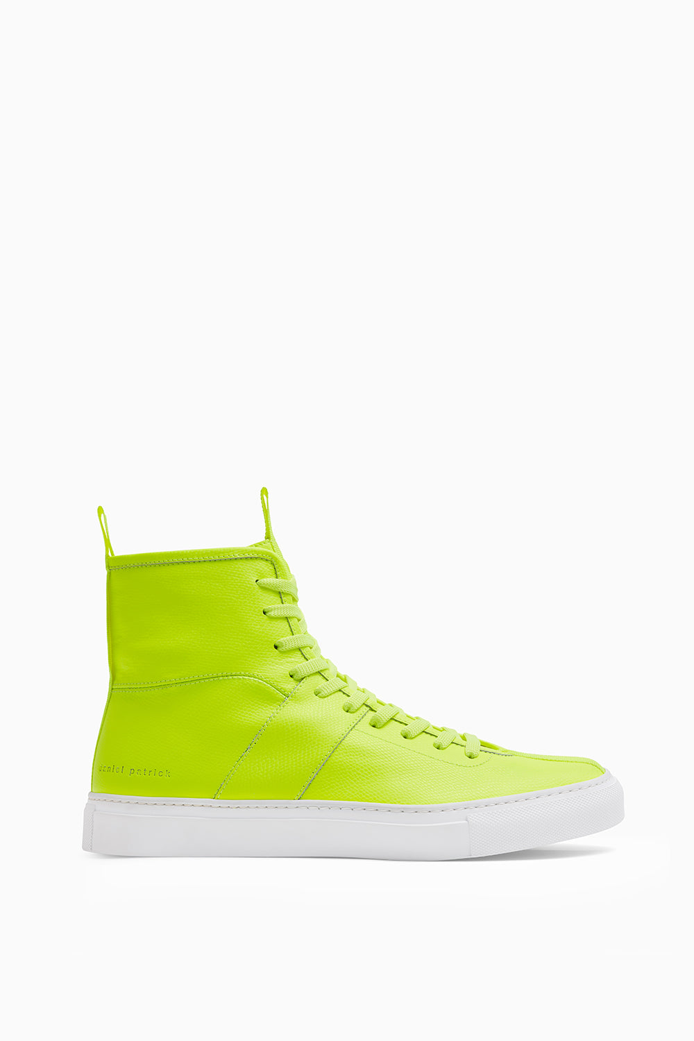 high top roamer in neon yellow by Daniel patrick